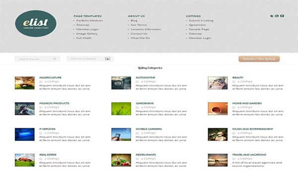 wordpress directory theme elist elegant