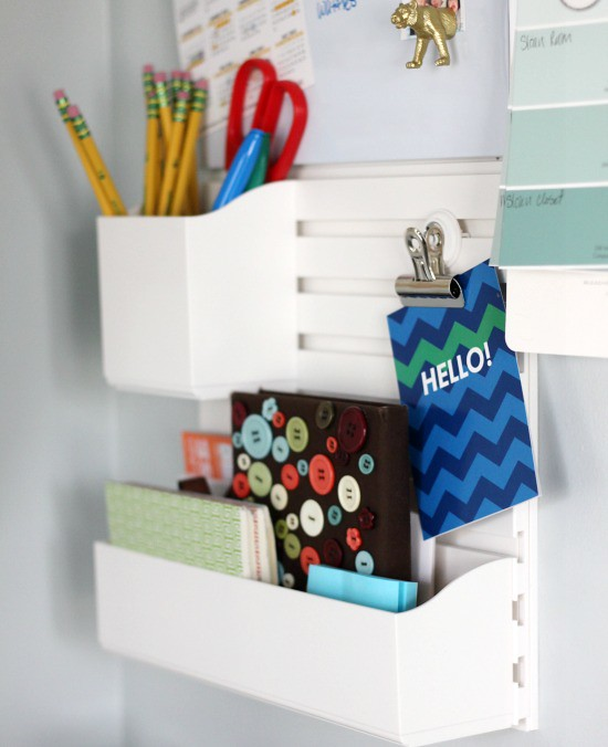 Hi Sugarplum | Family Command Center using Martha Stewart Wall Organizer