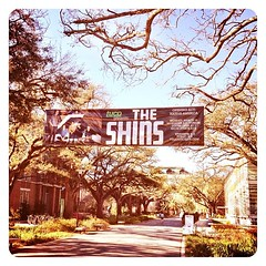 The Shins are playing in McAlister Auditorium tonight! #onlyattulane #tulane