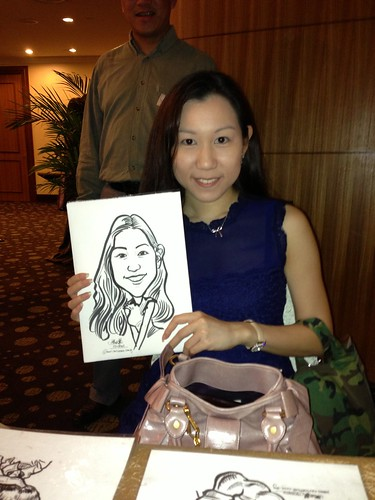 caricature live sketching for South West ComCare Local Network Anniversary Dinner cum ComCare Awards 2013 - f