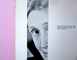 Virginia Woolf, di John Lehmann, La tartaruga edizioni, 1983. Art Director Sergio Calatroni. Pag. 3-5. (part.), 1