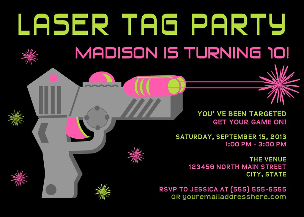 8fe9e669ed1d Printable Laser Tag Birthday Party Invitation   I have many …   Flickr