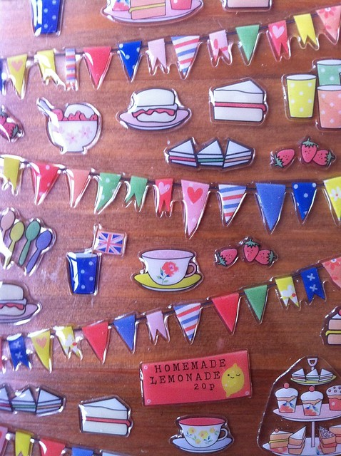 Paperchase high tea stickers