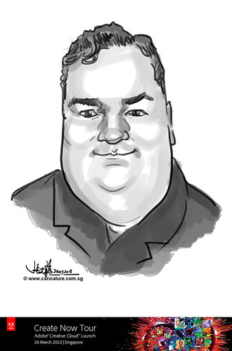 digital caricature for Adobe Create Now Tour - speaker 1