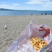 Fish & Chips on Beach at Mission Bay - Auckland, New Zealand