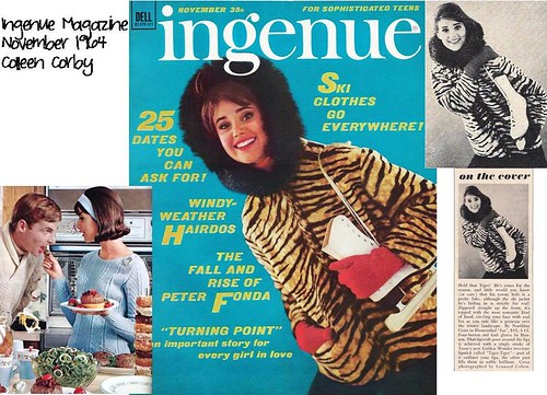 Ingenue, Nov 64 collage, Colleen Corby, Ice Skates