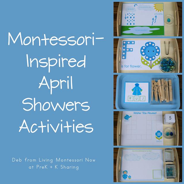 Montessori inspired april showers activities