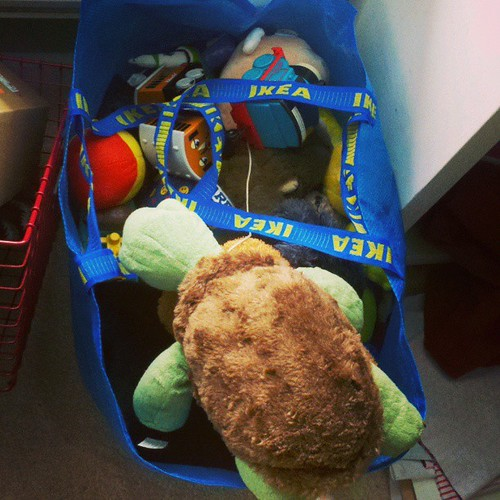 Bag full of plushies. Donated to local fire station.