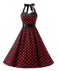 Halter 50s Rockabilly - Red Dot