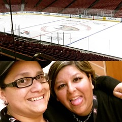 It's only preseason!!!!! Just glad I get to see this sassy bitch more often now #bestfriend #bff #hockey #work #postwork #shenanigans