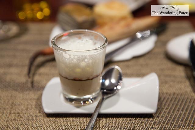 Amuse bouche of foie gras & cocoa