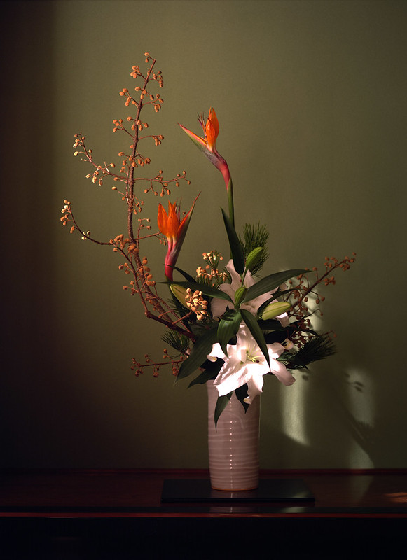Arrangement of the flower for the New Year