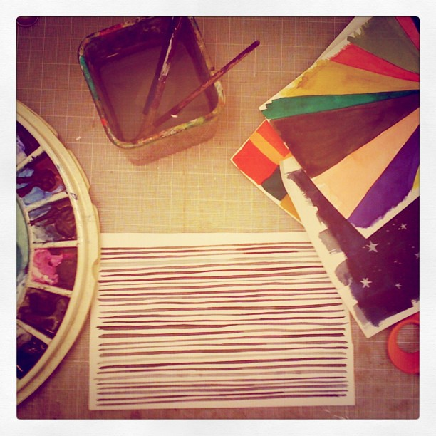 Another pattern for my potential project #art #pattern #stripes #beautiful #wip #watercolors