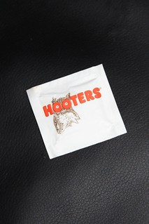 Hooter's wet wipe