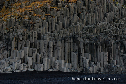 basalt colomns at Reynisfjara Black sand beach