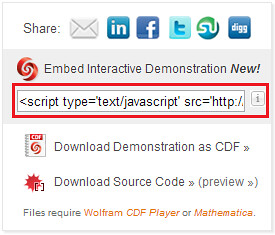 Embedding Wolfram Demonstrations