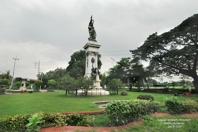 Urdaneta Philippines  City new picture : Legazpi Urdaneta Monument, Manila, Philippines, Jan. 8, 2013 1 ...