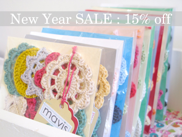 Happy New Year! +++ I'm having a New Year SALE, throught January get 15% off all product prices!