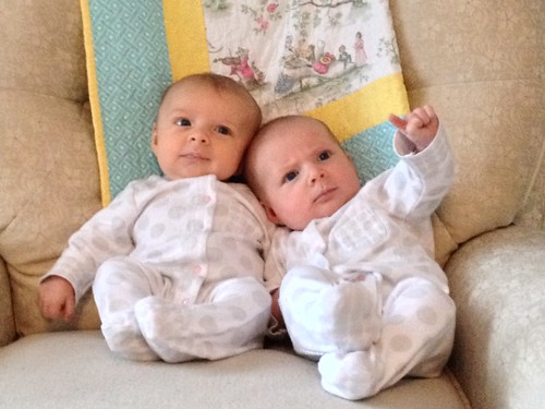Charlotte & Annabelle, 2 months