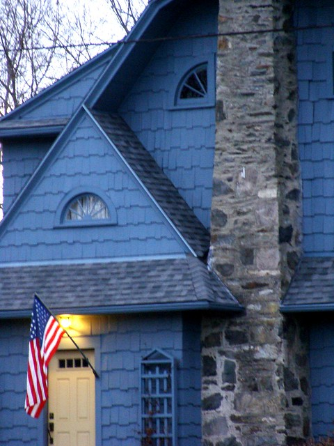 Blue Yellow Doored Cottage