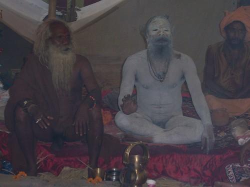Naga sadhus in their full naked glory
