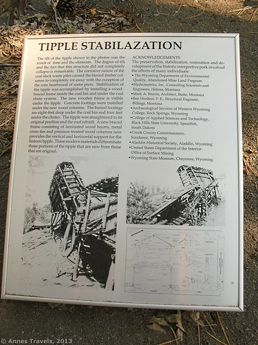 Stabilizing the Tipple Sign, Aladdin Tipple Historical Interpretive Park, Wyoming