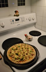 Broccoli, Sausage, and Cheese Pizza (Vegan)