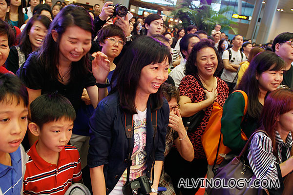 Audience enjoying themselves