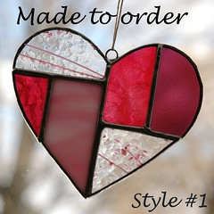 The intricate stained glass heart: $28