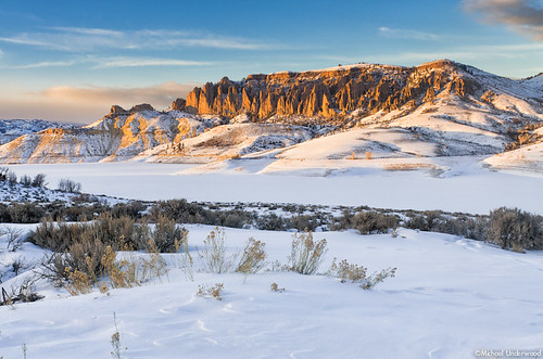 county winter sunset snow cold ice colorado gunnison dillonpinnacles