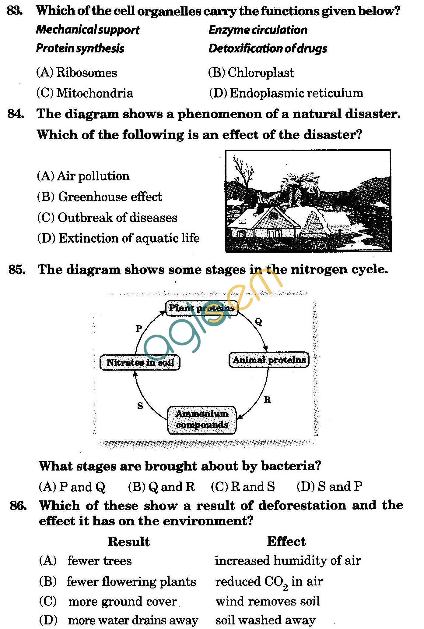 NSTSE 2009 Class VIII Question Paper with Answers - Biology