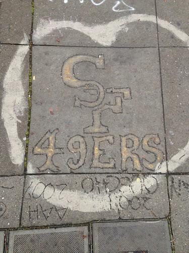49ers sidewalk art