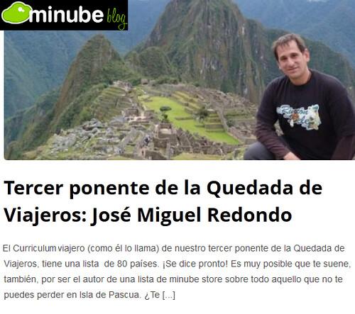 Tercer ponente de la Quedada de viajeros: José Miguel Redondo