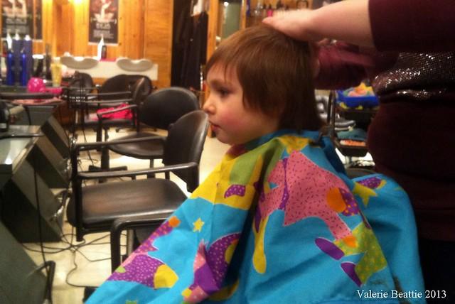 oscar hair cut aged 3