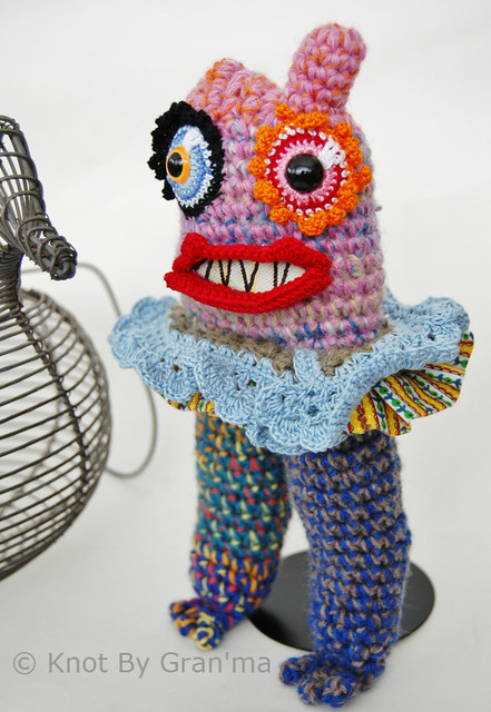 Crash It Kim Monster Sculpture by Knot By Gran'ma