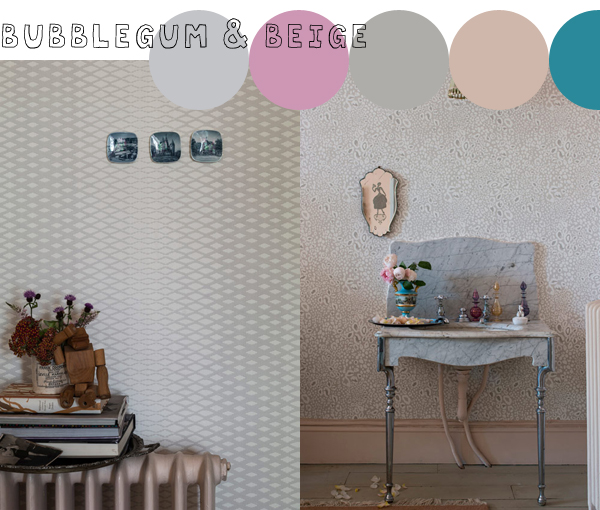 Latest and Greatest, Lattice and Ocelot wallpapers from Farrow & Ball