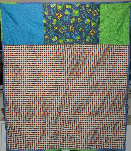 string triangle quilt - back