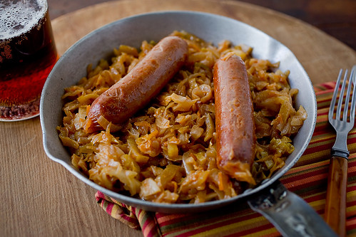 brats, cabbage, sauerkraut (and beer)