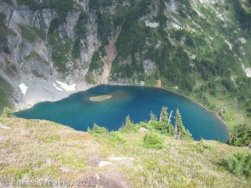An early view of Doubtful Lake from Sahale Arm, North Cascades National Park, Washington
