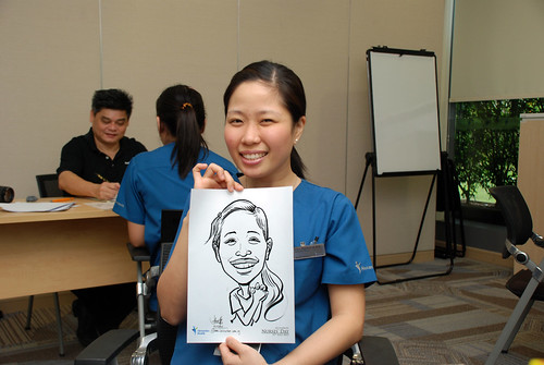 caricature live sketching for Khoo Teck Puat Hospital, Nurses' Day - 1