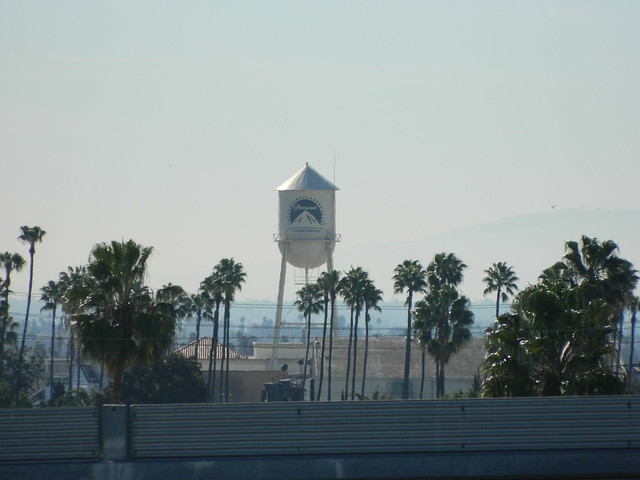 Paramount Studios Water Tower as viewed from Sunset Gower Studios in Hollywood, California.