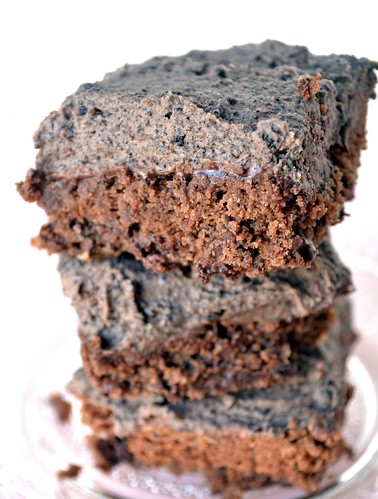 brownies that taste like thin mints with oreo frosting