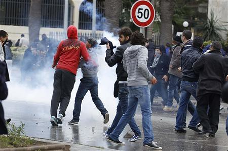 Mass demonstrations in Tunisia after the assassination of Chokri Belaid, a leading opposition politician. These demonstrations prompted the dissolution of the moderate Islamist government and the announcement of fresh elections. by Pan-African News Wire File Photos