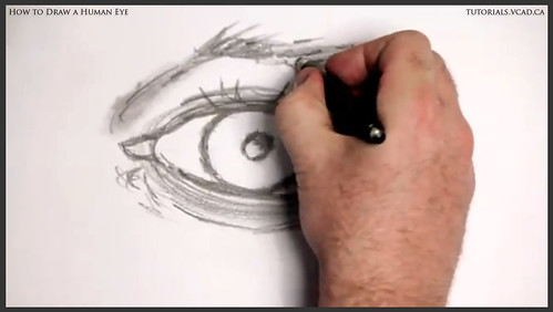 learn how to draw a human eye 012