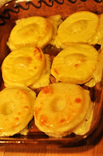 Sellerie Sellerieschnitzel Hawaii überbacken Käse Ananas