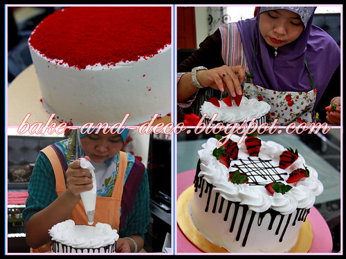 Baking & Deco Class: Red Velvet Cake, Ice Cream Cake, Lapis Cheezy & Tutty Fruity Cream Dessert ~ 10 July 2013