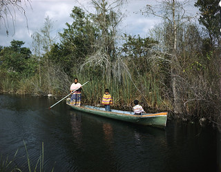 Seminole woman and children near the Tamiami Trail