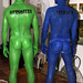 Opposites Attract Human Statue Bodyart