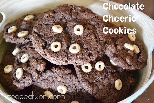 Chocolate Cheerio Cookies