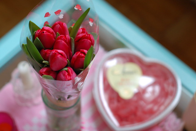 Tulips and candy